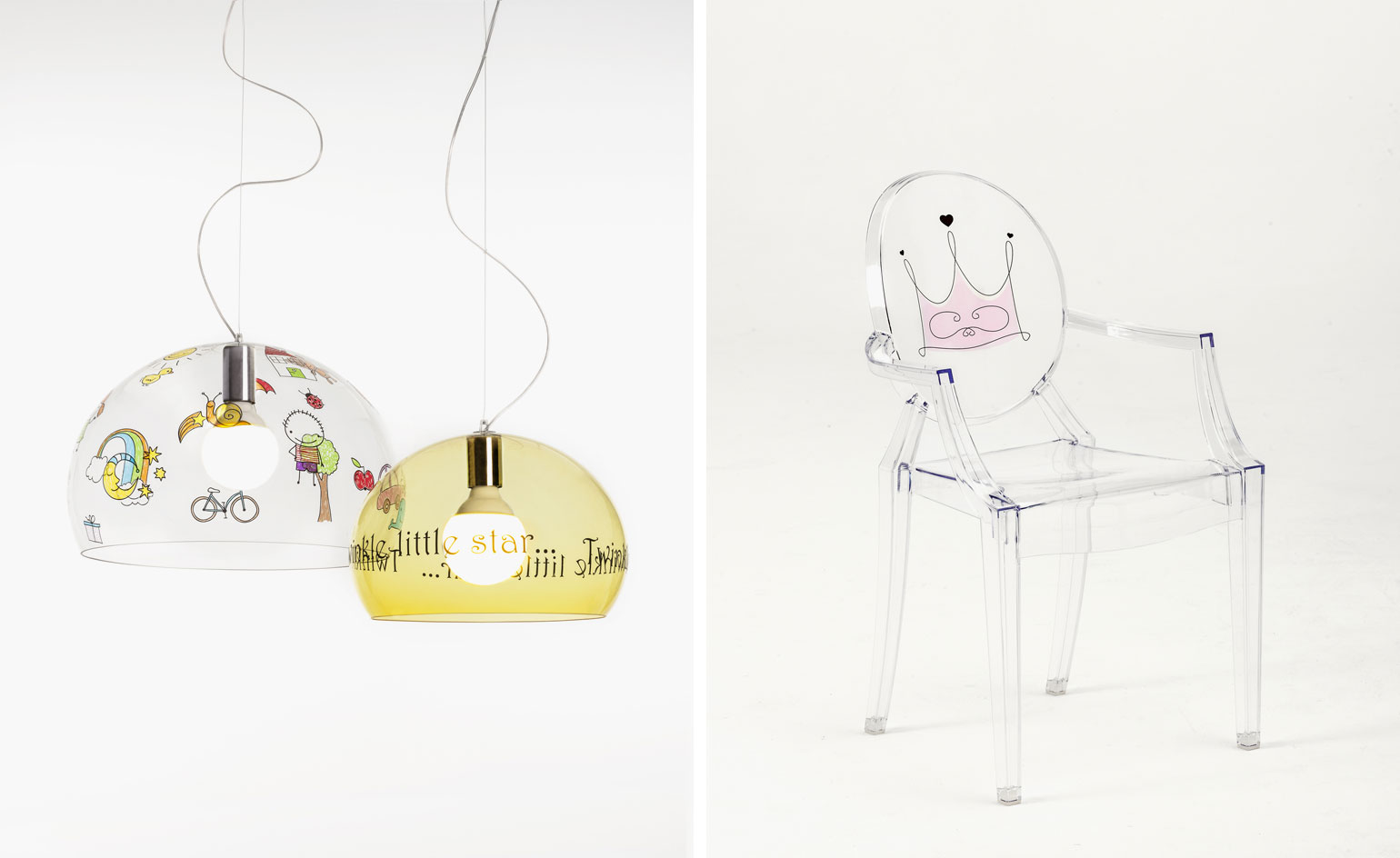 KARTELL_KIDS Loulou ghost chair di Philippe Starck per Kartell
