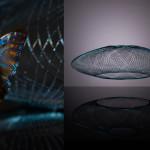 UFO by Atelier Robotic L'innovazione di quest'anno è l'impiego di una fibra iridescente ispirata alle ali di farfalle.