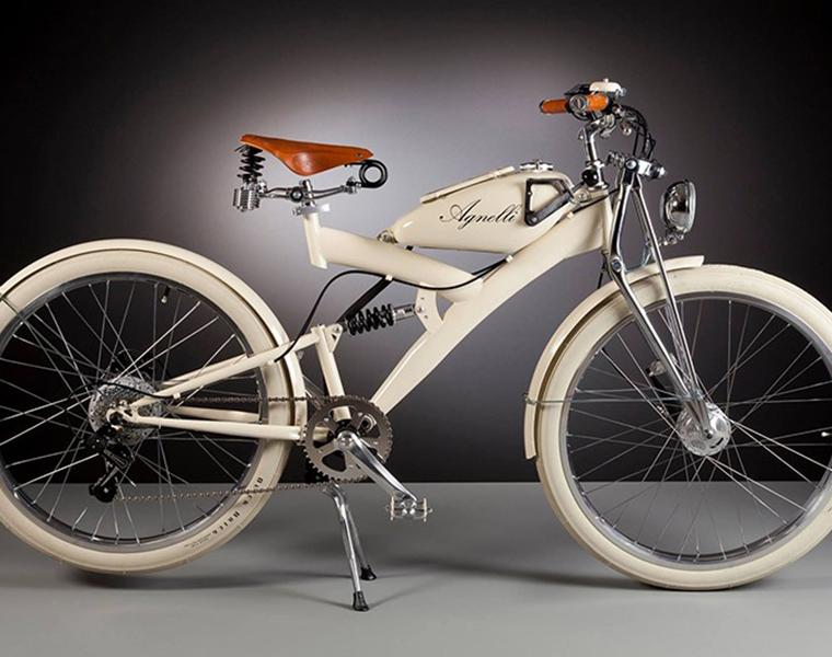Bicicletta vintage con pedalata assistita prodotta da AgnelliMilanoBici
