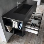 Moderno mobile da bagno ricoperto in FENIX NTM® di Arpa Industriale.