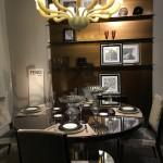 Fendi, Salone del Mobile, servizio da tavola, tavolo, sedie, lampadario