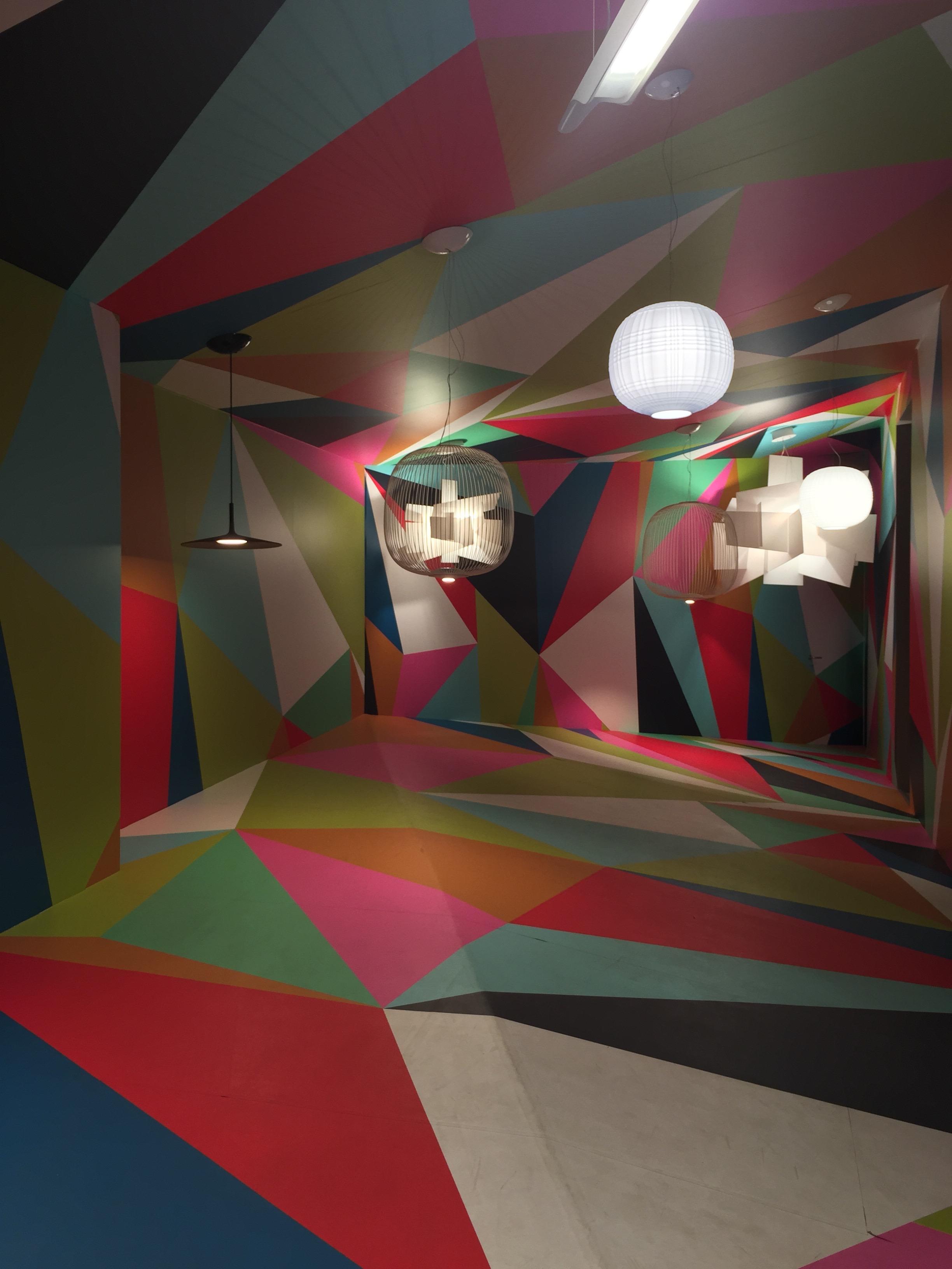 """Foscarini, Brera, installazione in stile """"camera ottica"""""""