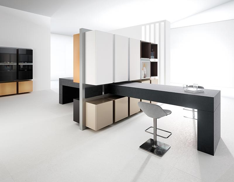 Häcker Küchen, modello Moving Kitchen design Jochen Flacken