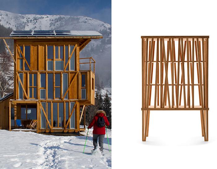 Studio Albori, Casa Solare, Vens, Saint Nicolas, Valle d'Aosta, Italia, 2011 © Giovanni Forte Front. Porro, Mikado Cupboard, 2013 © Porro