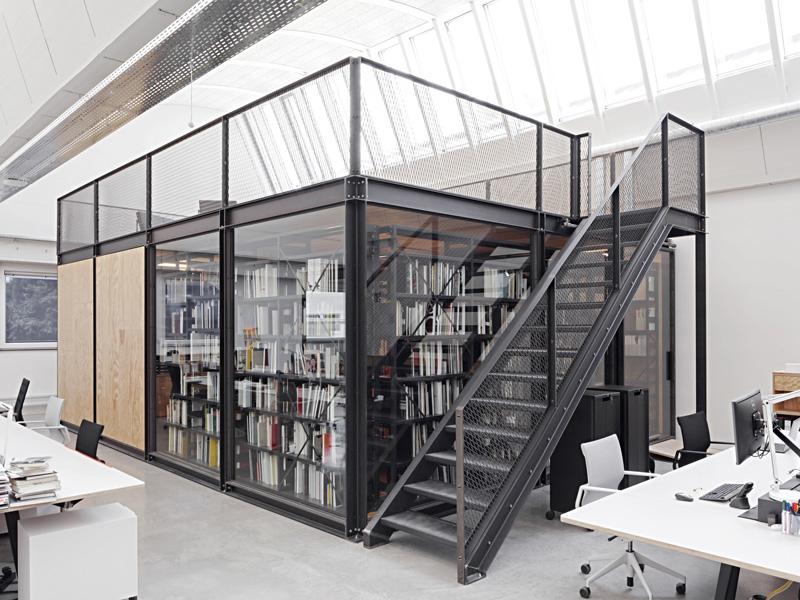 View Vitra Design Museum, library, photo © Vitra Design Museum, Daniele Ansidei