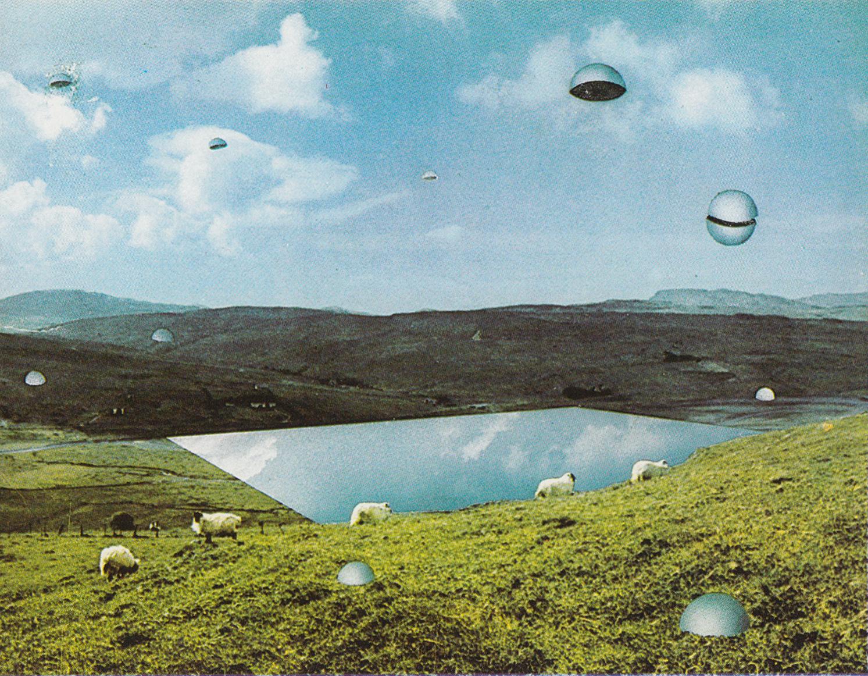 Superstudio, Le Dodici Città Ideali. Città delle Semisfere, 1971, fotomontaggio, courtesy Fondazione MAXXI