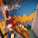 Adolfo Natalini alla mostra Superarchitettura, Galleria Jolly 2, Pistoia 1966 (foto C. Toraldo di Francia)