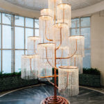 Chandelier, 2015, copper, crystal and light fixtures, 400 x 240 x 230 cm. Photo: Paris Tavitian © Museum of Cycladic Art