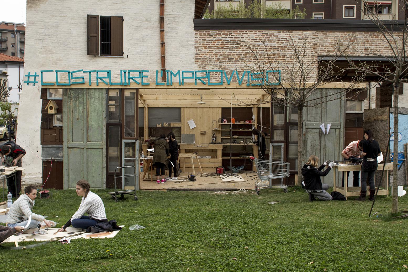 Costruire l'improvviso - Un workshop per Mare Culturale Urbano, a cui hanno partecipato gli studenti Master di IED Milano